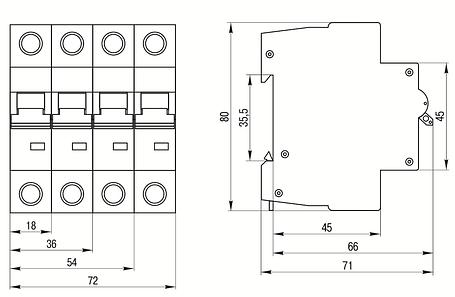 Выключатель автоматический ВА47-60 3Р 6А 6кА С IEK, фото 2
