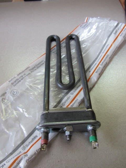 Нагревательный элемент (1700/1800w, пластик, 2к., b70) для стиральных машин Indesit, Ariston,, c00082601