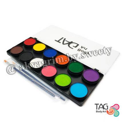 Аквагрим палитра TAG 12 Основных, регулярных цветов