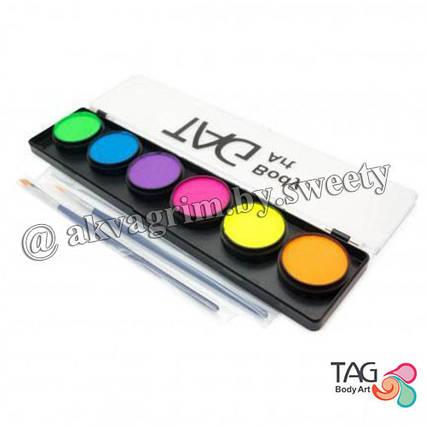 Аквагрим Неонова панель TAG 6 кольорів
