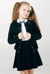 Школьный жакет для девочки Смил,  116276  11-14 лет 164, Черный