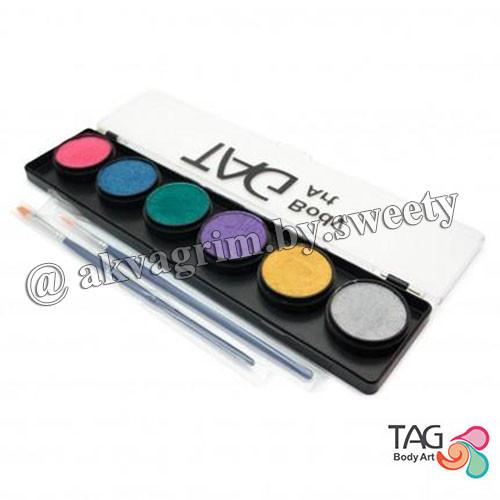 Аквагрим Перламутровая палитра TAG 6 цветов