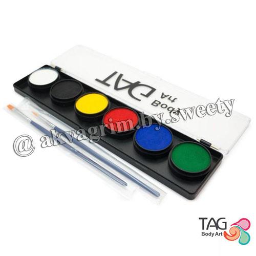 Аквагрим палитра TAG 6 Основных, регулярных цветов