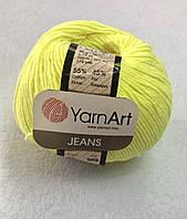 Пряжа Jeans 50гр - 160м (58 Лимонный) YarnArt 55 % хлопок, 45 % полиакрил, Турция