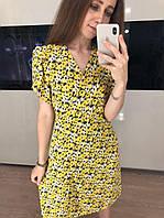 Жіноче шифонова сукня з квітковим принтом, фото 1