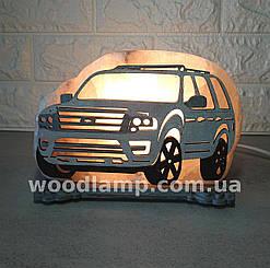 Соляний світильник Машина велика кольорова