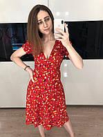 Женское шифоновое платье с цветочным принтом