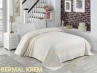 Махровая простынь покрывало на кровать 150х220  полуторная хлопок Турция