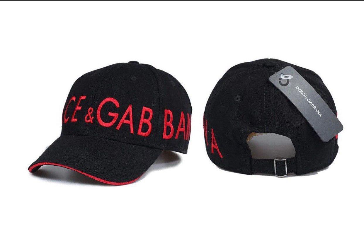 Брендовая бейсболка Dolce&Gabbana D9865 черная