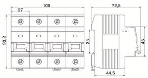 Выключатель автоматический ВА47-150 3Р 80А 15кА C IEK, фото 2