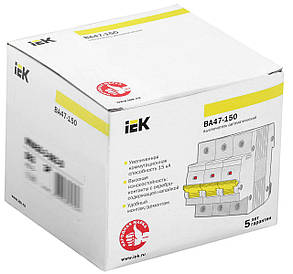 Выключатель автоматический ВА47-150 3Р 100А 15кА C IEK, фото 2