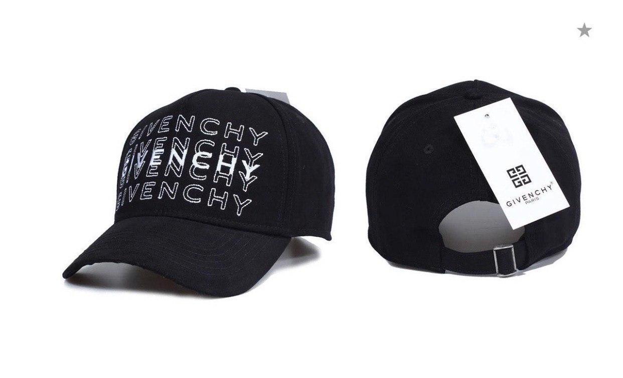 Брендовая бейсболка Givenchy D9867 черная