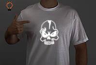 Стильная мужская футболка, футболка с принтом, молодежная футболка с рефлективным рисунком