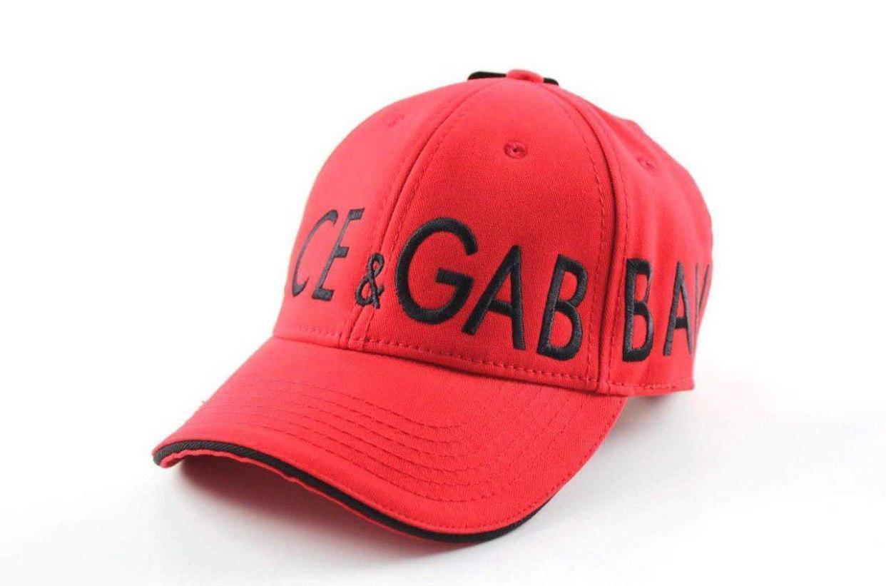 Брендовая бейсболка Dolce&Gabbana D9870 красная