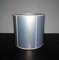 Металлизированные серебристые термоэтикетки 100х60 мм. 1000 шт. Для ценников
