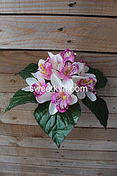 Искусственные цветы - Орхидея букет, 17 см
