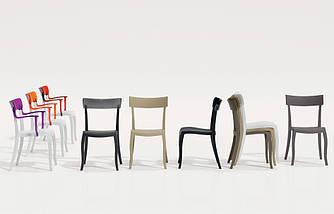 Стул Papatya Hera-S песочно-бежевое сиденье, верх черный, фото 3