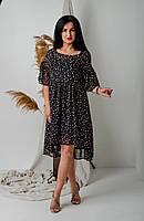 Шифоновое летнее платье с цветами, фото 1
