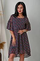 Шифоновое платье с удлиненной спинкой, фото 1