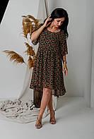 Шифоновое платье с цветочным принтом, фото 1