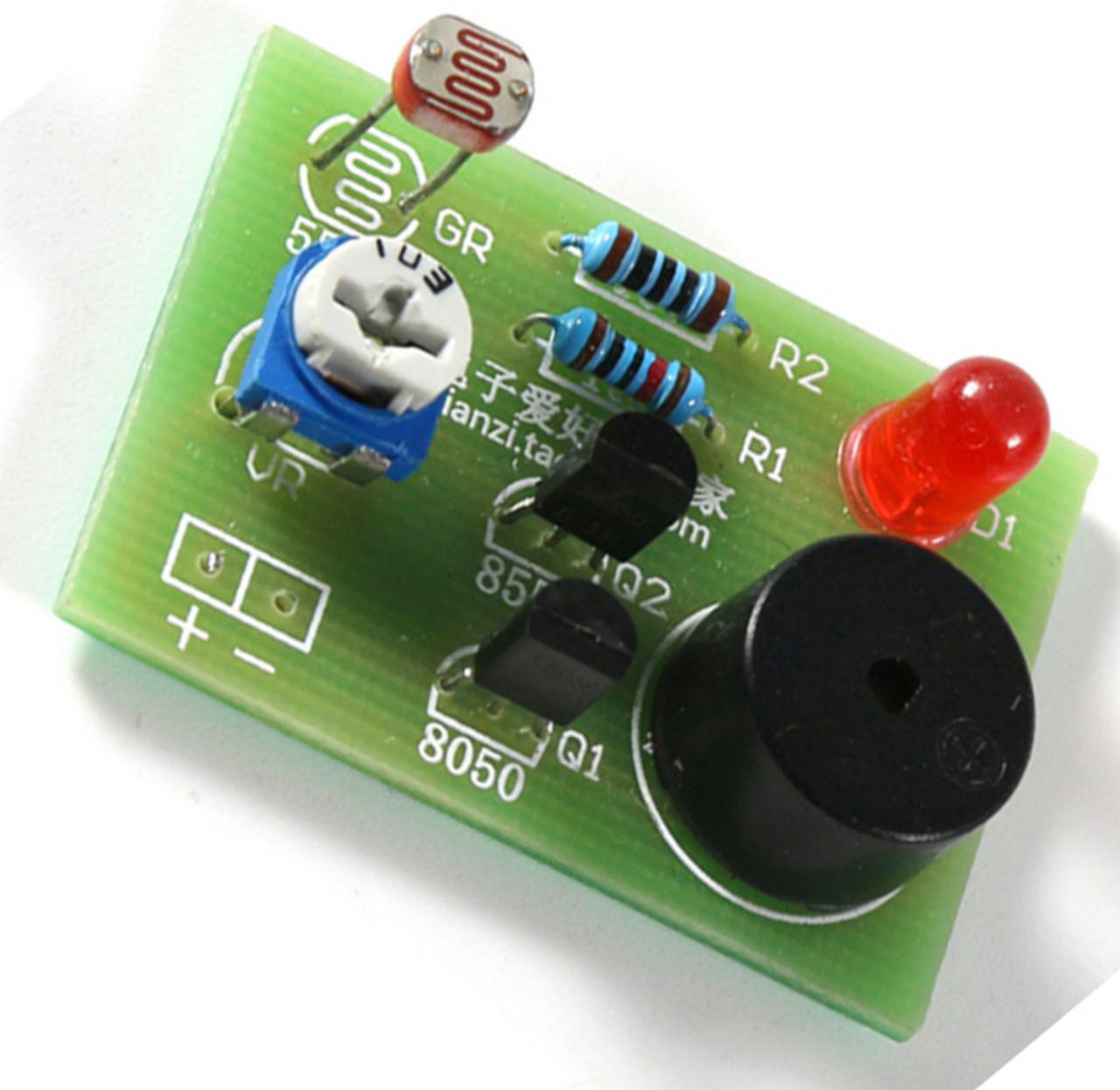 Світлочутливий звуковий датчик, набір для самостійної збірки DIY KIT. Радиоконструктор