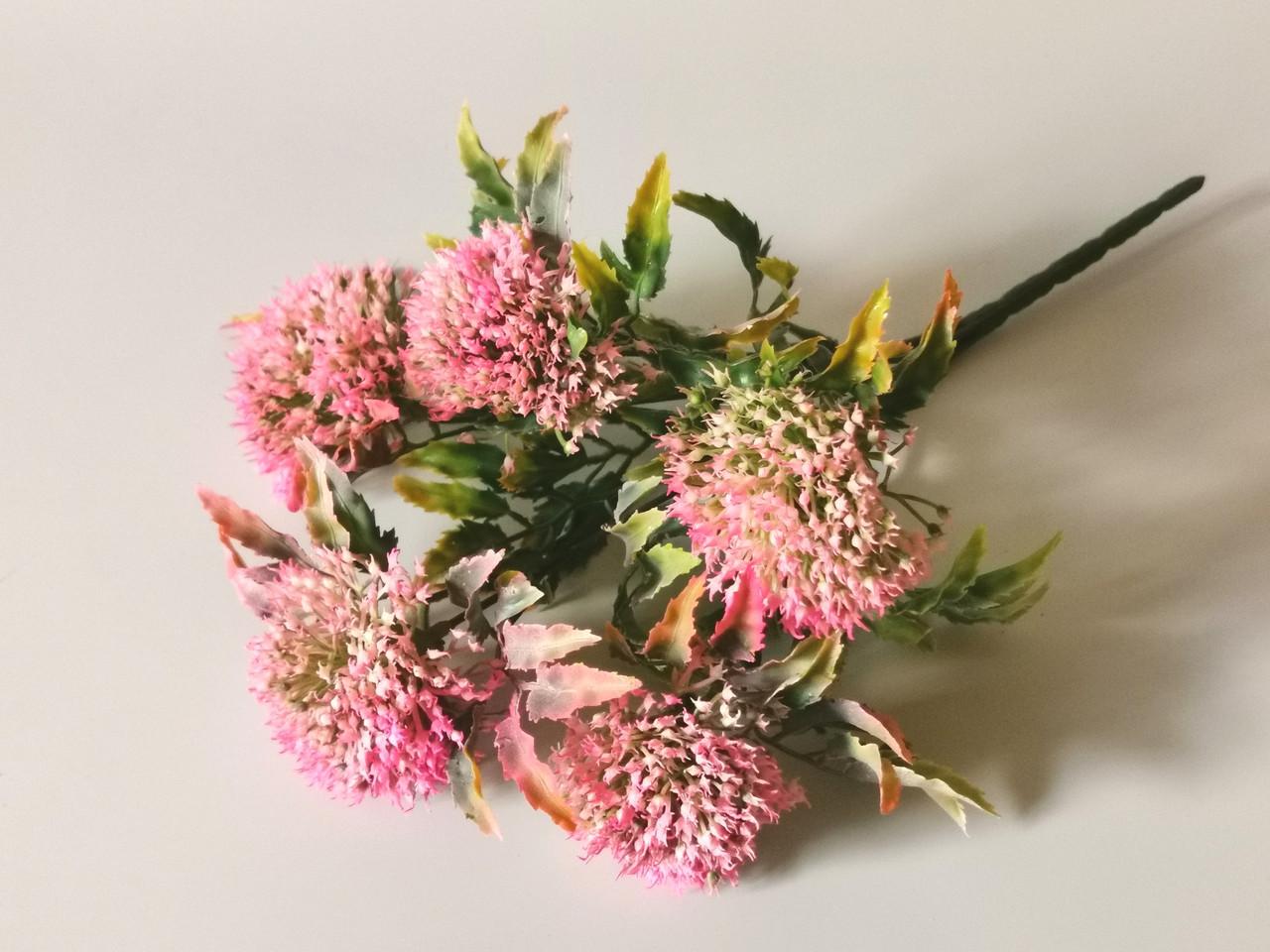 Искусственные цветы. Букет аллиума, розовый