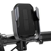 Держатель смартфона на руль мотоцикла / велосипеда Baseus Armor Motorcycle Holder Black