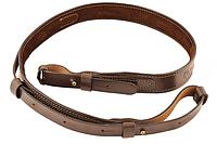 Ремень кожаный на подкладке узкий (коричневый)