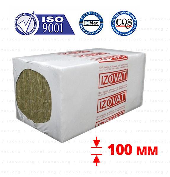 Izovat 65 (Ізоват) 100 мм базальтовий утеплювач для вентильованого фасаду