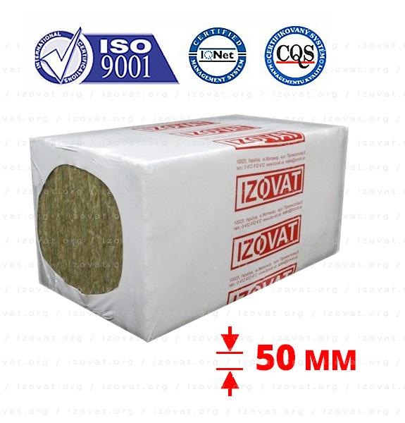 Izovat 80 (Ізоват) 50 мм базальтовий утеплювач для вентильованого фасаду