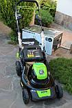 Мощная самоходная аккумуляторная  газонокосилка GreenWorks GD80LM51SP Pro 80V 51 см бесщёточная с АКБ 4Ач и ЗУ, фото 2
