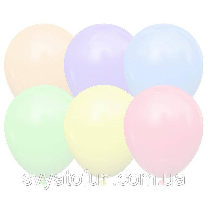 """Латексные воздушные шарики 5"""" Macaron Assorted (ассорти) 100шт/уп Kalisan"""