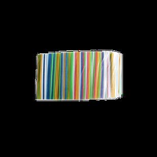 Трубочка коктельна гофра 7 кольорів (200шт)