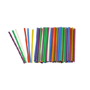 Трубочка Фреш 7 кольорів 20см.  (500шт)