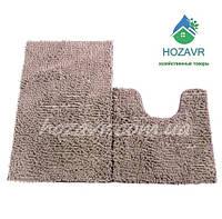 Набор ковриков для ванной и туалета лапша 50 х 80 см светло-серый LN22