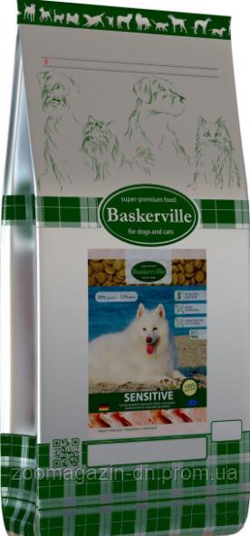 BASKERVILLE  HF SENSITIVE СУХОЙ КОРМ ДЛЯ СОБАК с чувствительным пищеварением  7.5 кг