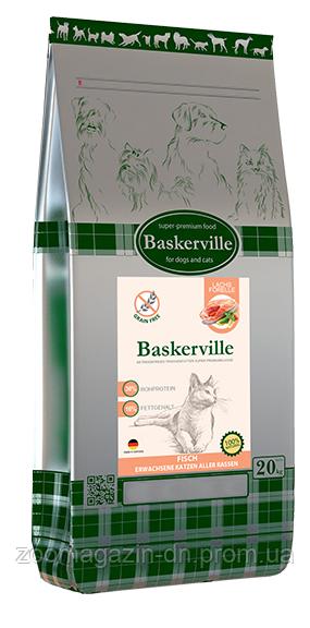 Baskerville KF Adult Getreidefrei Fisch Сухой корм  для котов без зерновой лосось и форель домашняя птица, 20