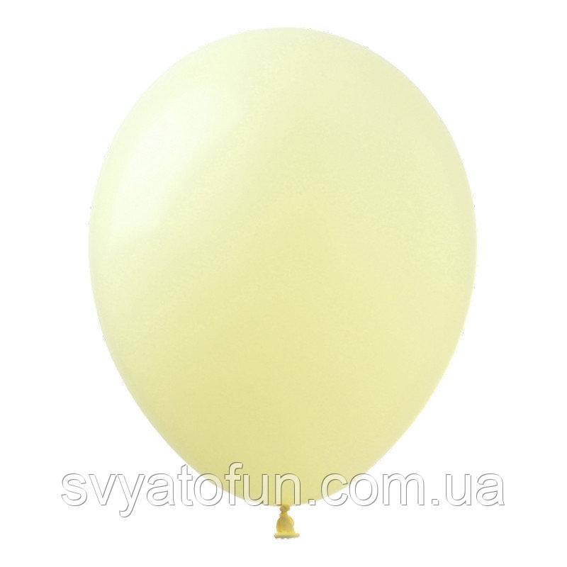 """Латексные воздушные шарики 12"""" Macaron Yellow (желтый) 20шт/уп Kalisan"""