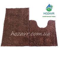 Набор ковриков для ванной и туалета лапша 50 х 80 см коричневый LN02