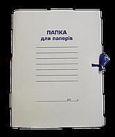 Папка паперова «Справа» Buromax 0,4 мм на зав'язках А4, цільнокрійна