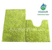 Набор ковриков для ванной и туалета лапша 50 х 80 см оливковый LN13