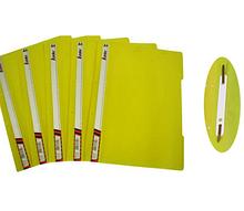 Скоросшиватель, пластик. прозрачным. верх А5 желтый, KS320-А5 Leader