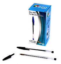Ручка кулькова Eco-Eagle 0,7 мм, чорна TY401 ш.к. 6924854401506