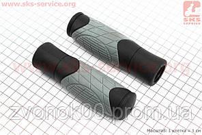 Ручки руля 125мм, черно-серые VLG-1679D2