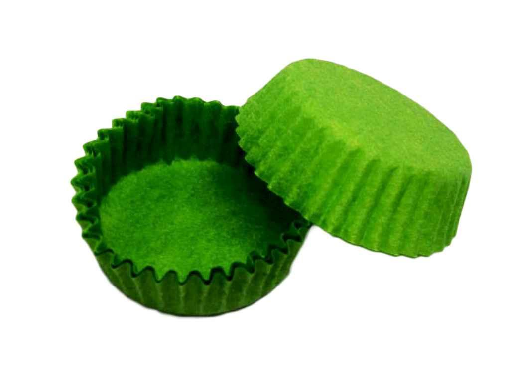 Форма пап. 100шт/упКругла тарталетка 9(D71хH22) зелена ТМEASTERS