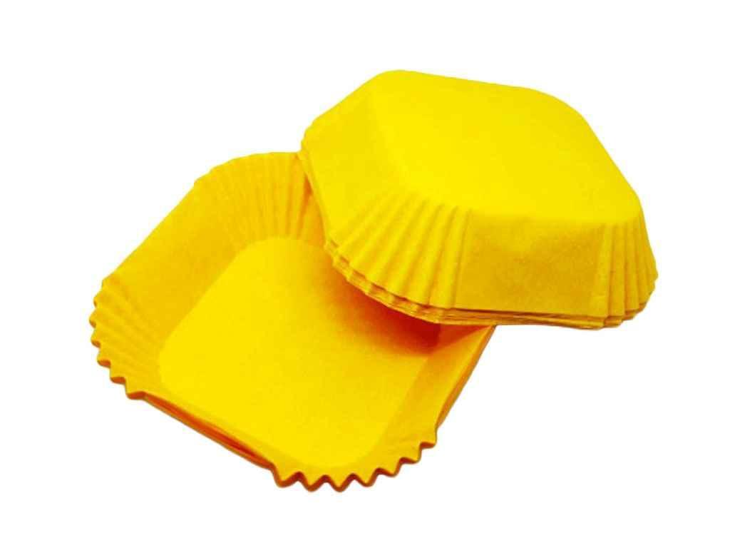 Форма пап.100шт/упКвадратна тарталетка До-58,5(58,5*58,5*21,5) жовта ТМEASTERS