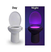 Автономная цветная Led подсветка для унитаза с датчиком движения и света