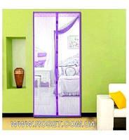 Антимоскитная дверная шторка на магнитной ленте , 210х100 см - Фиолетовая, фото 1