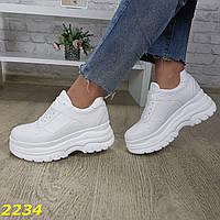 Кроссовки белые на высокой платформе, фото 1