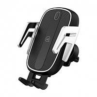 Держатель для телефона с беспроводной зарядкой Usams US-CD100 Automatic Touch Induction (Air Vent)